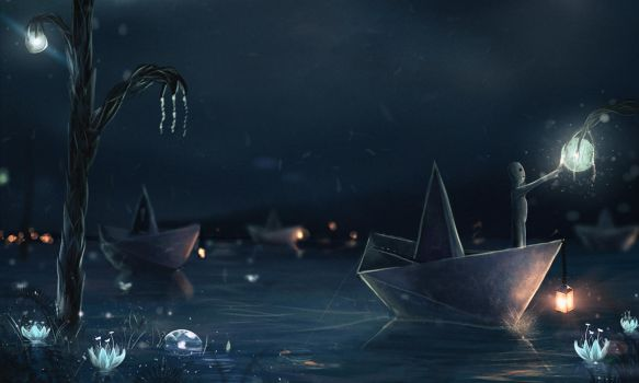 Paper boat by Sylar113