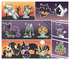 PKMN - Halloween Cluster Clutch [OPEN] by JCBrokenLight