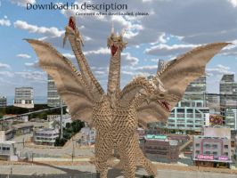 MMD Godzilla Newcomer - King Ghidorah +DOWNLOAD+ by MMDCharizard