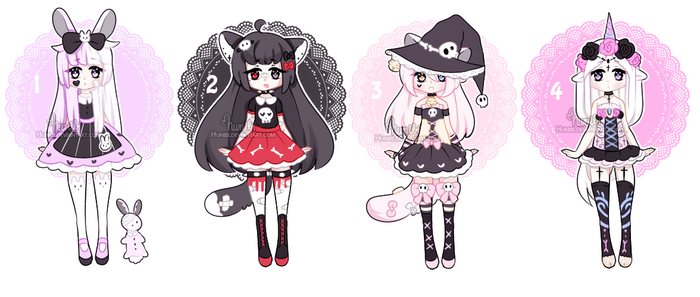 +Dark kemonomimi cuties [CLOSED]+ by Hunibi