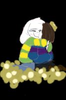 Asriel and frisk by BananaConductor