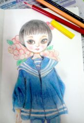 pencil colour training - doll 1 by imaipack