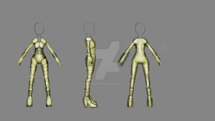 Blade_Girl outfit reskin concept by Redo19