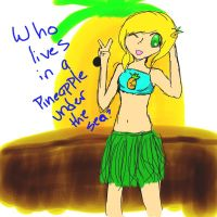 who lives in a pineapple under the sea by LilMissBlueJay