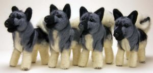 More Needle Felted Elkhounds by The-GoblinQueen