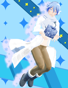 [MMD x Secret Santa] Koron Winter Kaito by BubblyAisu