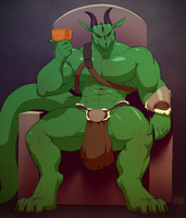 The King Sits (Art by BNG) by ZealotCrusader