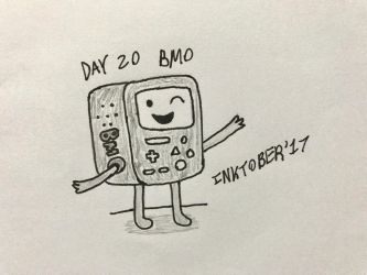 Inktober Day 20- BMO by Revenir-Ghoul