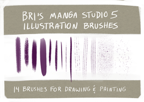 Brushes - Manga Studio 5 / Clip Studio Paint by BriMercedes