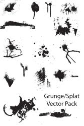 Grunge-Splat vector pack by Thegoldenmane