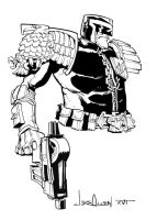 Judge Dredd by jakeallenesq