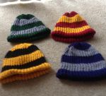 Harry Potter Inspired Knit Beanies by LishaChan