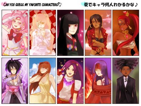 Can you Guess my Favorite Characters? by LolipopCandii