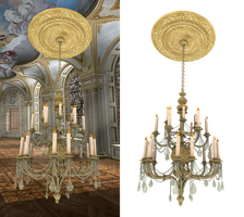 chandelier 002 PNG by neverFading-stock