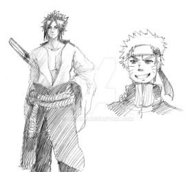 Naruto shippuden - Doodles by Olaunis