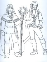 Xellos and Elhil by supremetechgoddess
