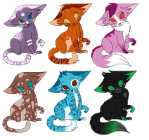 ADOPTABLES 4  FREE [CATS|CLOSE] by WateermelonQueen
