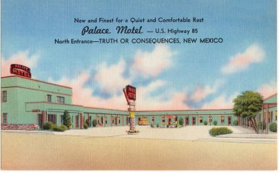 Vintage Motels - Palace Motel, T or C, NM by Yesterdays-Paper