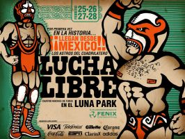 LUCHA LIBRE poster by cristalena