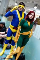 Cyclops and Phoenix 1 by Insane-Pencil