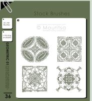 Brush Pack - Geometric 01 by iMouritsa