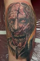 zombie tattoo by graynd