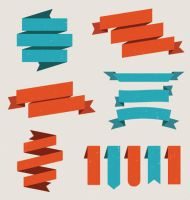 Set Of Vector Ribbons Vector Graphic by Designslots