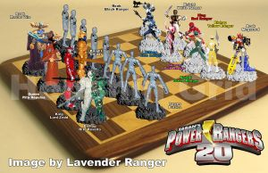 Power Rangers Chess by LavenderRanger