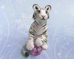 White Tiger with Dice by DragonsAndBeasties