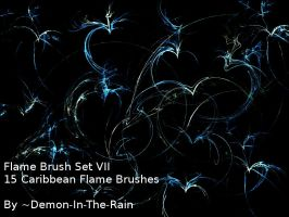 Flame-Glow Gimp Brushes-Set VII by Demon-in-the-rain