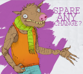 spare any change? by Tua