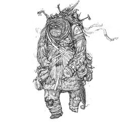 Gurnak, Line Sketch Commision by DanilLovesFood