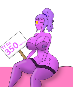 Thank Ya for 350 Watchers by ARegularBlueSlime