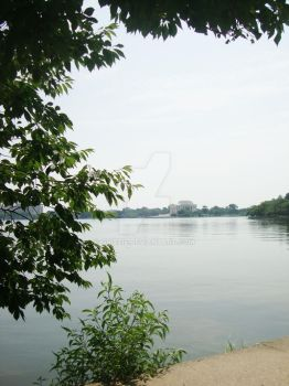 Jefferson Memorial from Across the Basin by Grizzie