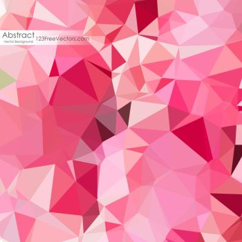 Pink Rose Polygonal Background Free Vector by 123freevectors