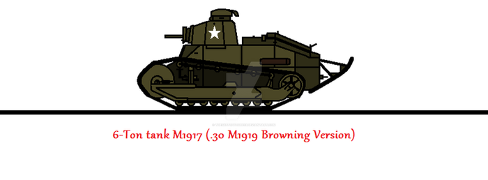 6-Ton tank M1917 (.30 M1919 Browning Version) by thesketchydude13