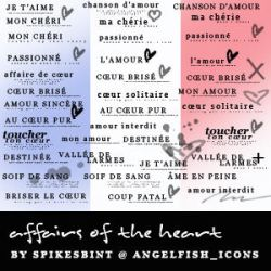 French Text brushes by spikesbint
