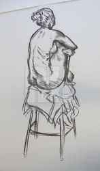 life drawing sketch 2 by rosalindharrison