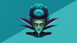 Death Prophet Dota 2 Low Poly Art by giftmones