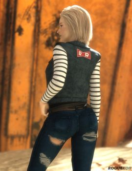 Android 18 (2) by roguekoii