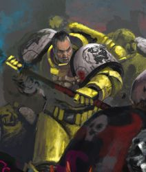 Imperial Fist-sketch by DiegoGisbertLlorens