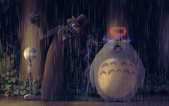 The Babadook Totoro by Art-of-Animalpark