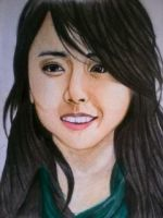 2014 Drawing - Ms.Moon Geun Young :) by nielopena