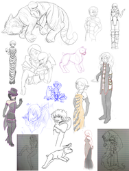 Dragon Age RP Sketches by DanisMuffins