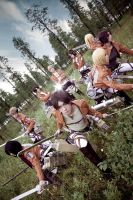 Attack On Titan group cosplay by Mcosplay