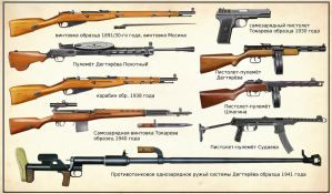 WW2 Soviet Union infantry weapons by AndreaSilva60
