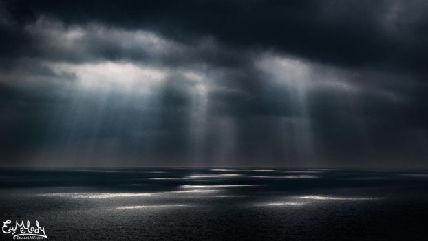 Light Shines Onto Dark Waters by EmMelody
