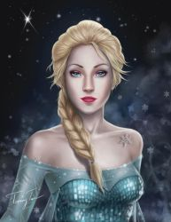 Elsa - Snow Queen by Digital07
