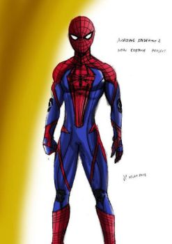 amazing spiderman 2 new suit by johnnykoru
