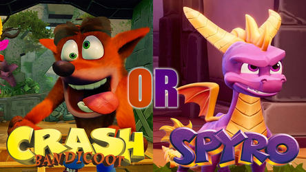Crash or Spyro? by JapaneseGodzilla1954